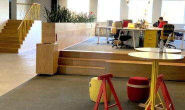 Longopac sadzīves atkritumu sistēma SOL biroja koplietošanas telpā